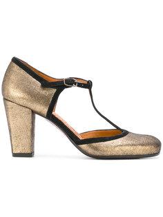 туфли-лодочки с Т-образным ремешком с металлическим блеском Chie Mihara
