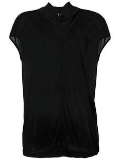 футболка с драпированным воротником Rick Owens