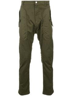 брюки с накладными карманами Helmut Lang