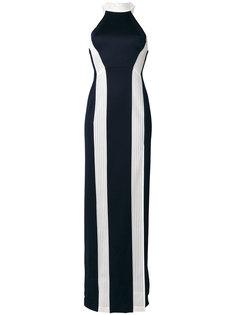 вечернее платье с вертикальными полосками Galvan