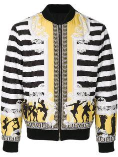 полосатая куртка-бомбер Versace Collection