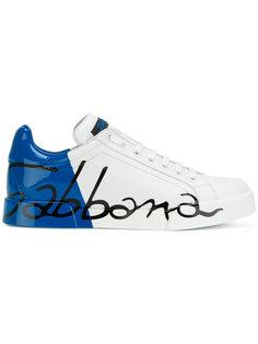 кроссовки с принтом логотипа Dolce & Gabbana
