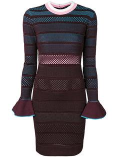 полосатое платье Versace