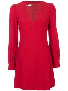 платье с V-образным вырезом и структурными плечами Dondup