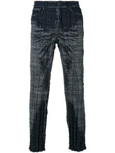 клетчатые брюки Issey Miyake