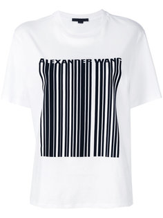 футболка с декором в виде штрихкода Alexander Wang