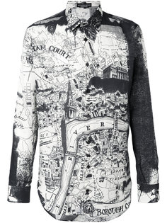 рубашка London Map Alexander McQueen