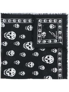 кашемировый шарф Skull Alexander McQueen