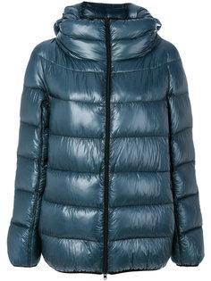 дутая куртка с капюшоном  Herno