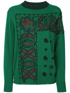 вязаный свитер с узором из шнура Sacai