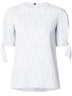 Short Sleeve Crewneck Top With Tie Detail Derek Lam 10 Crosby
