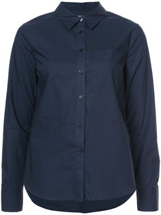 Long Sleeve Button-Down Shirt With Ruffle Detail Derek Lam 10 Crosby