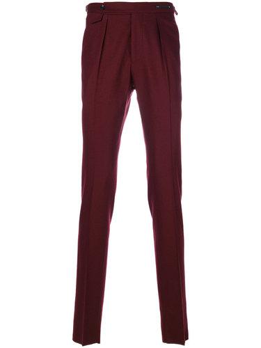 брюки с плиссировкой спереди Pt01