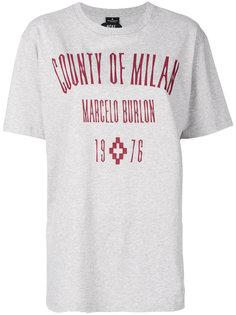 футболка с вышитым логотипом  Marcelo Burlon County Of Milan