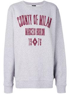 толстовка с вышитым логотипом  Marcelo Burlon County Of Milan