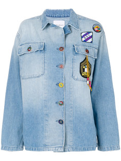 джинсовая куртка с нашивками  Mira Mikati