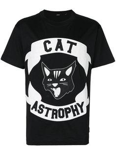 футболка с аппликацией Cat Astrophy Diesel