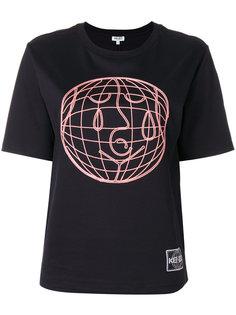 футболка с вышивкой World Kenzo