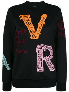 толстовка из плотной ткани с вышивками Versace