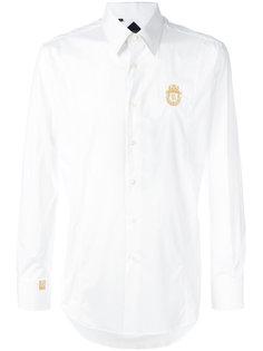 рубашка с вышитым логотипом  Billionaire