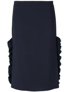 юбка-карандаш с плиссированными деталями по бокам Nº21