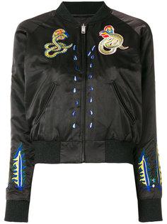 куртка-бомбер с нашивками Diesel