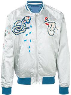 куртка-бомбер с вышитыми змеями Diesel