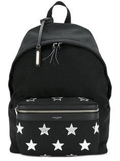 рюкзак с заплатками в виде звезд City Saint Laurent