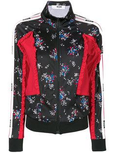 куртка с тисненым цветочным узором  MSGM