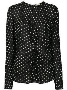 блузка в горох сборного дизайна Saint Laurent