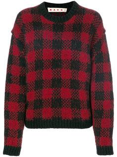 свитер с узором в сетку Marni