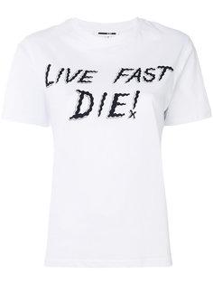 футболка Live Fast Die McQ Alexander McQueen