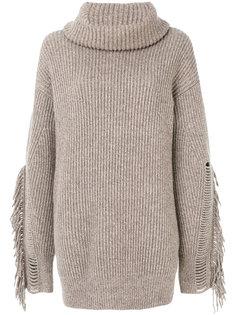 свитер с бахромой на воротнике Stella McCartney
