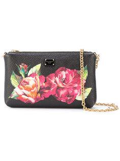 клатч с принтом роз  Dolce & Gabbana