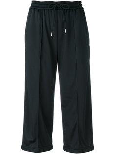 укороченные спортивные брюки с завязкой на талии  MSGM