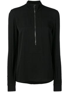 пуловер из крепа с воротником на молнии Tom Ford