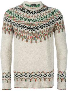 свитер с орнаментом Roberto Collina