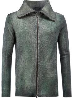 узкая куртка с воротником-стойкой со скошенными концами Avant Toi