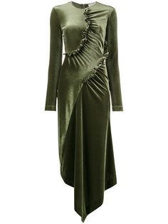 асимметричное платье с рюшами Preen By Thornton Bregazzi