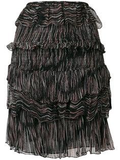 юбка Canwood  с рюшами и полосатым принтом  Iro