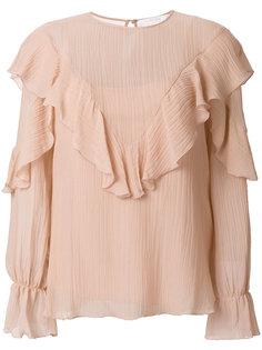 блузка с оторочкой из воланов See By Chloé
