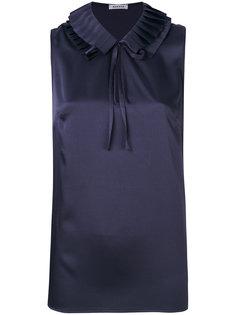 плиссированная блузка без рукавов  P.A.R.O.S.H.