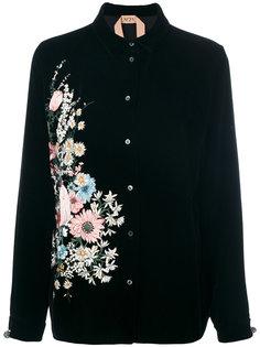 рубашка с цветочной вышивкой Nº21