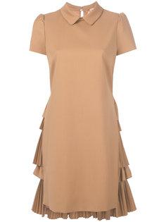 приталенное платье с плиссированной спинкой Nº21