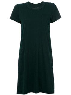 вязаное платье-шифт Sacai