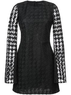 кружевное платье в ломаную клетку Rubin Singer