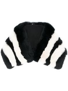 меховой шарф-воротник в полоску Etro