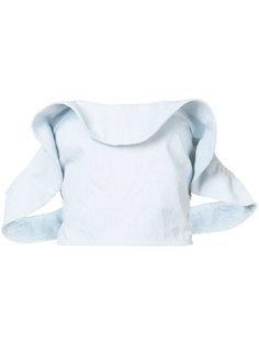джинсовая укороченная блузка  Apiece Apart