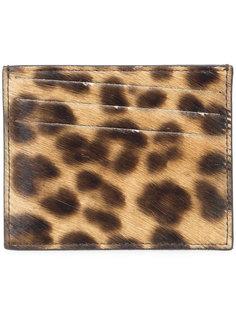 визитница с леопардовым принтом Maison Margiela
