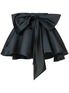 атласная мини-юбка со сборкой Dice Kayek